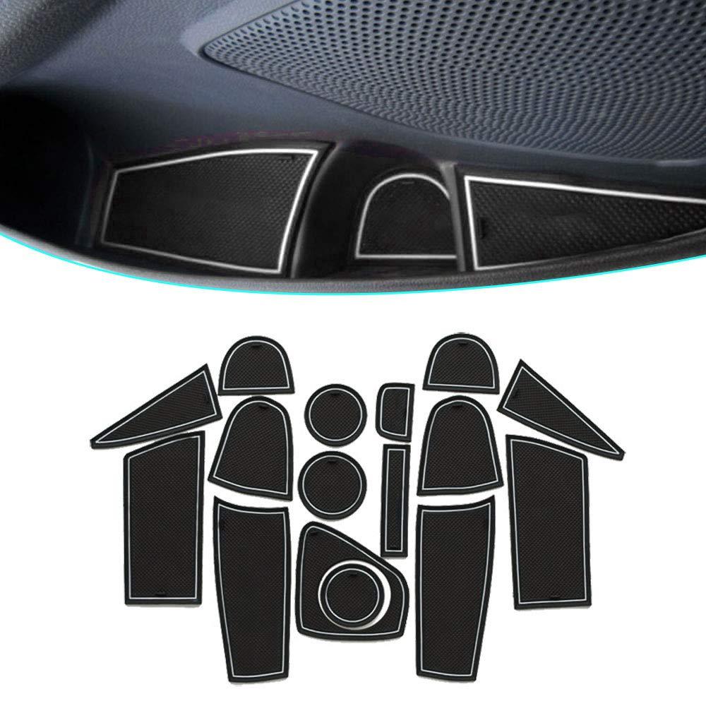 Muchkey Anti-polvere antiscivolo Supporto tazza interno Tappetini Per 2013 EcoSport 16 pezzi per set Blu