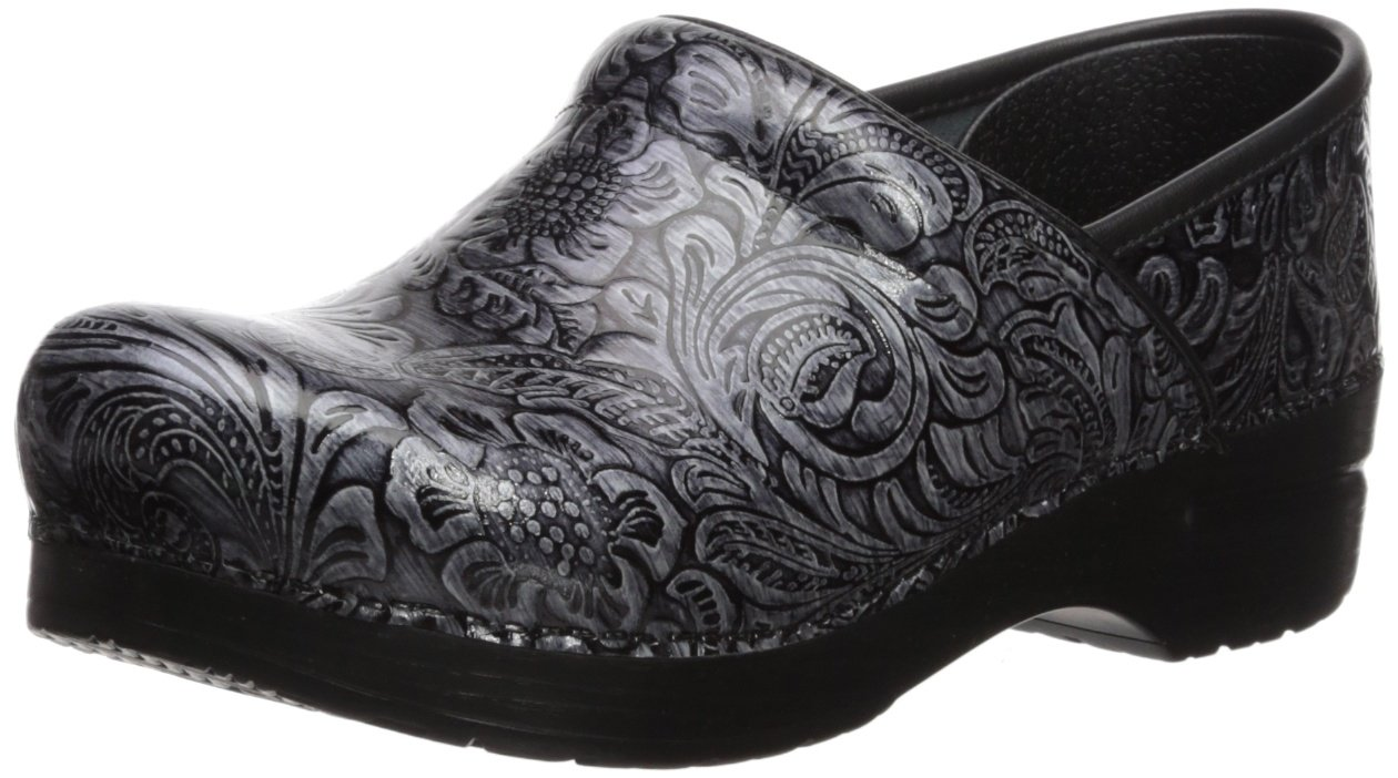 [ダンスコ] dansko Professional Black Oiled Grey Tooled Patent 36 W EU / 5.5-6 B(M) US 36 W EU / 5.5-6 B(M) USGrey Tooled Patent B074TV1RXM