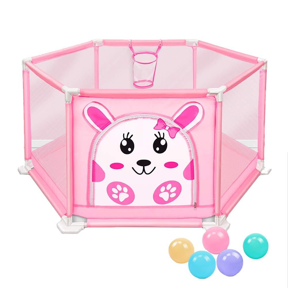 素晴らしい外見 ベビーサークル, ポータブル6パネルベビープレーンシューティングと5つのボール :、アンチロールオーバプラスチックプレイヤード幼児のための - 50センチメートルの高さ (色 : (色 Pink) Pink Pink B07JNB9X4M, 東京グラス激安センター:f71289f8 --- a0267596.xsph.ru