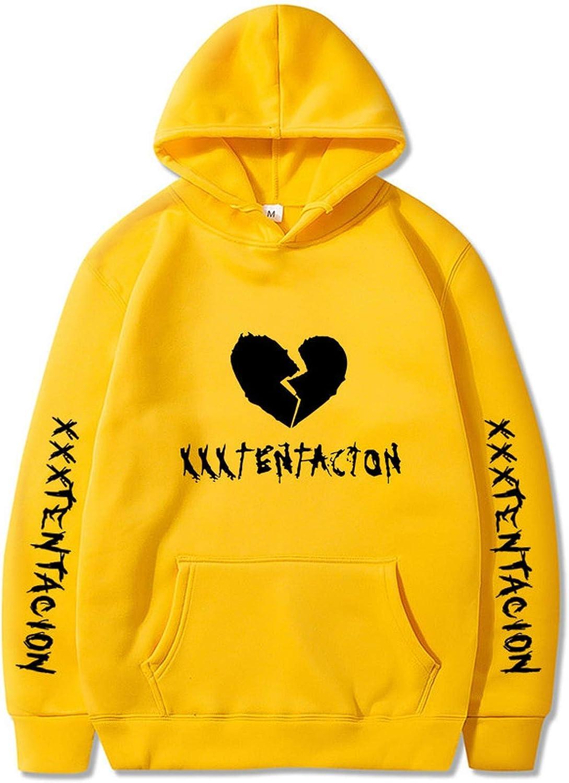 Yanlian1 Men Women Hoodies Sweatshirt Casual Pullover Couple Streetwear Hip Hop Print Hoodies,Orange 28,L