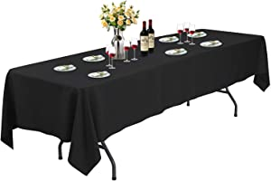 ABCCANOPY Rectangle 6FT Tablecloth 60 x 126 Inch Rectangular Table Cloth in Washable Polyester - Great for Buffet Table, Parties, Holiday Dinner, Wedding & Baby Shower