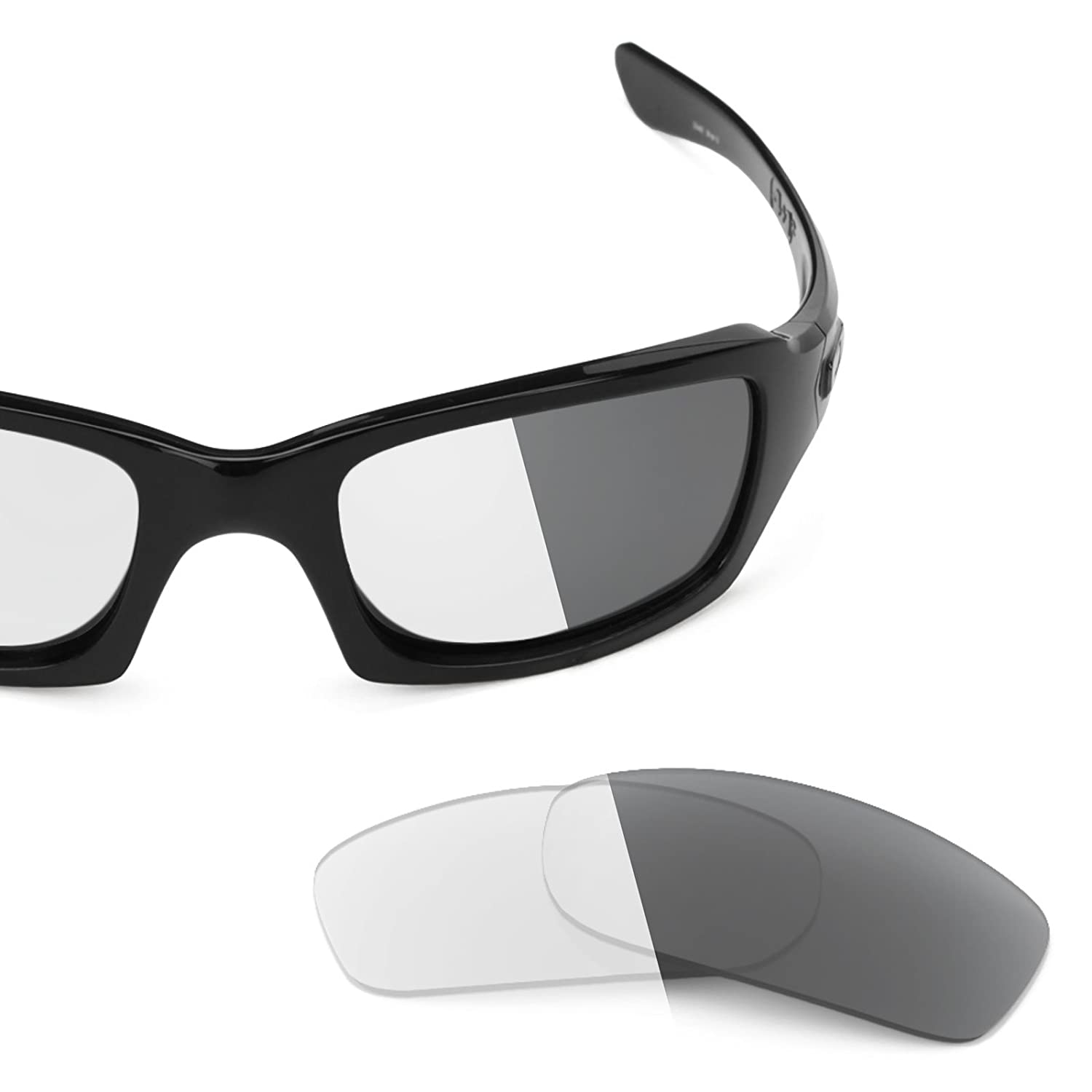 516ba1e08f0 Revant Replacement Lenses for Oakley Fives Squared Elite Adapt Grey  Photochromic  Amazon.co.uk  Clothing