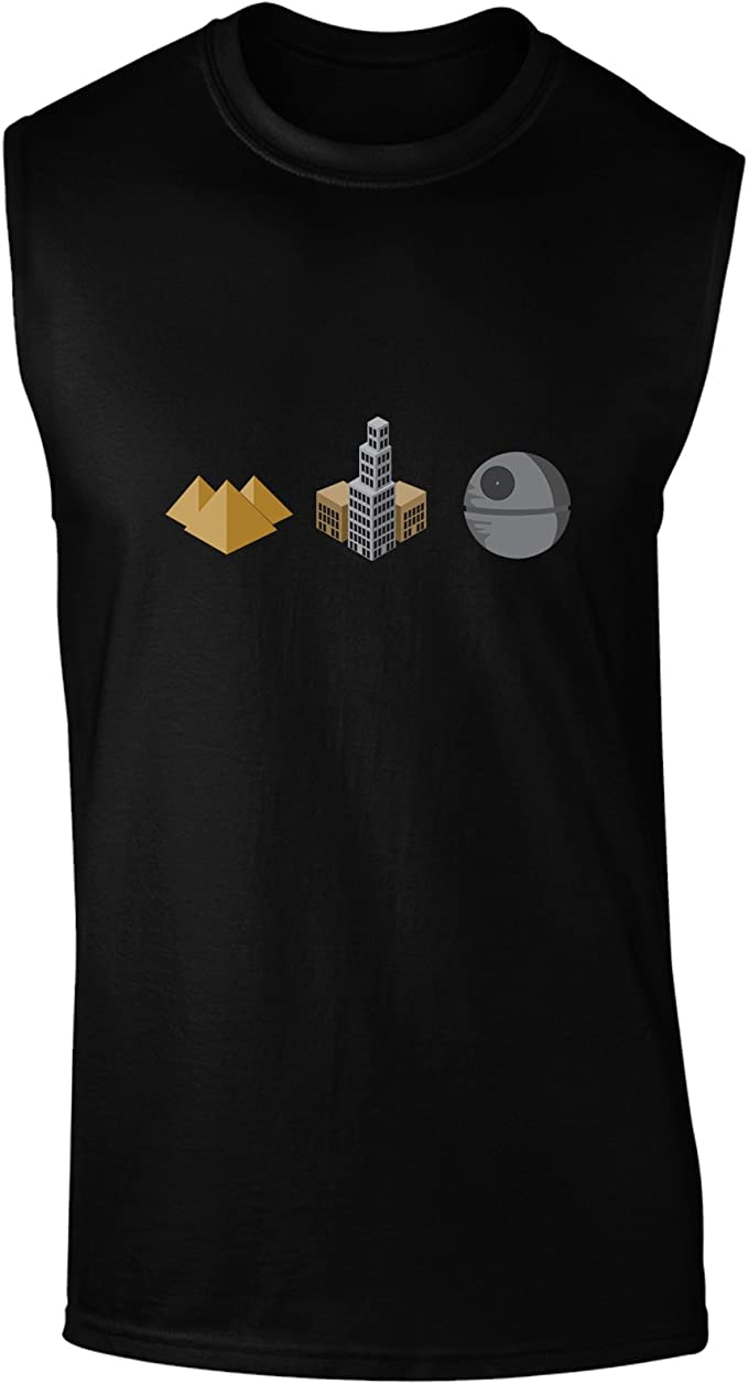 TooLoud History of Architecture Funny Sci-fi Muscle Shirt