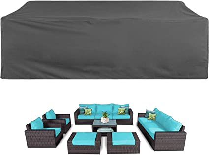Amazon Com Akefit Patio Cover Patio Furniture Set Covers Waterproof Outdoor Furniture Lounge Porch Sofa Waterproof Dust Proof Protective Loveseat Covers Garden Outdoor