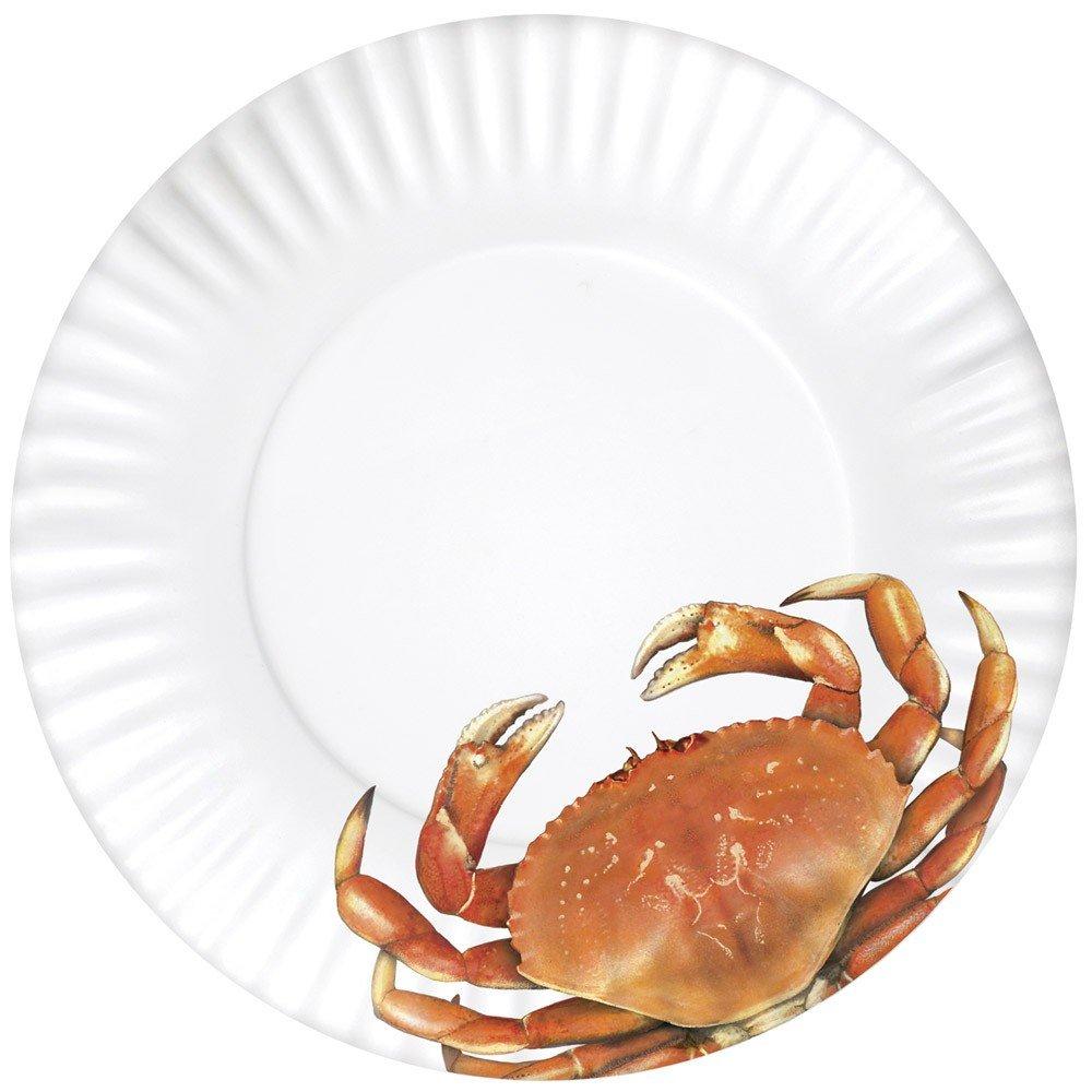Mary Lake-Thompson Red Crab 11-inch Melamine Plates, Set of 4
