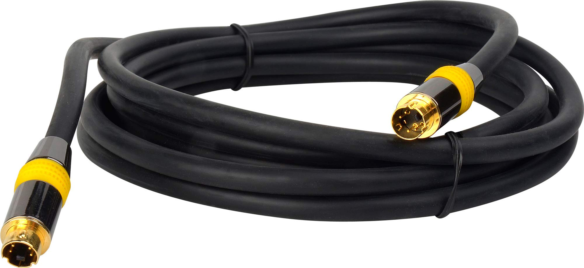 Tecnec Svhs 4-Pin Male to 4-Pin Male Flexible Cable with Gold Connectors 100Ft