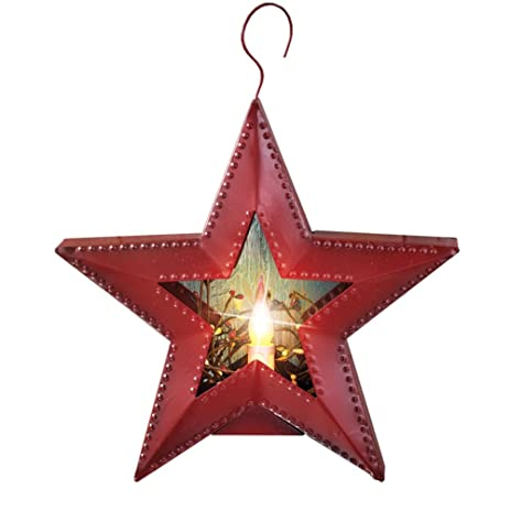 Amazon.com: Primitive Battery Operated Lighted Country Star ...