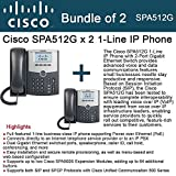 Cisco SPA512G 2-UNITS 1-Line IP Phone VOIP 2Port Gigabit Switch PoE LCD display