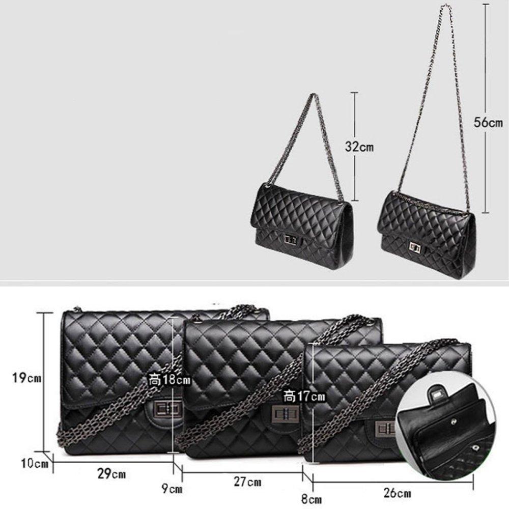 SHRJJ Handtaschen Messenger Tasche Lingge Kette Paket Schulter Mode Mini Tasche Geldb/örse 2 PCS Set Tasche Baby Wickeltaschen