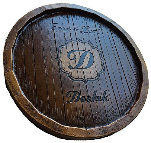 Wine Barrel Monogram and Personalized Lazy Susan by Piazza Pisano (Image #4)