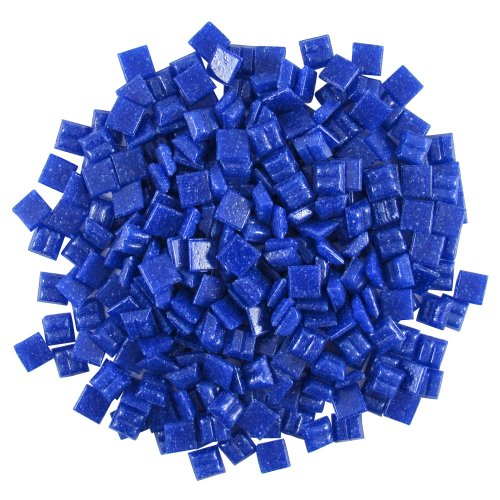 Jennifer's Mosaics 3/8-Inch Venetian Style Glass Mosaic Tile, Royal Blue, 8-Ounce