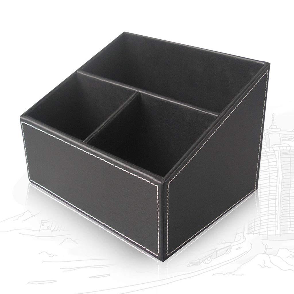 Living Room Storage Box - Desktop Storage Fernbedienung Klimaanlage Finishing Box (schwarz, braun) (Farbe   SCHWARZ)