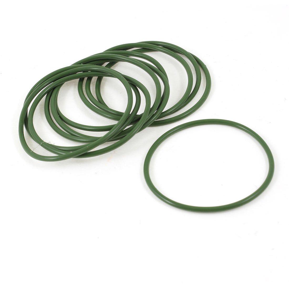 Sourcingmap - 10 pezzi 60 mm guarnizioni di tenuta diametro esterno olio anello di gomma o verdi a13120400ux0752