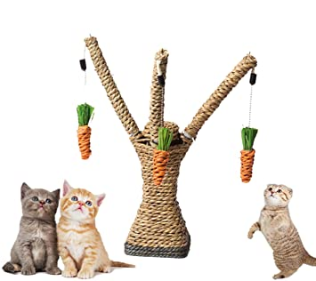 Muodu - Poste rascador para gatos, cuerda de sisal, rascador para gatos, gatitos