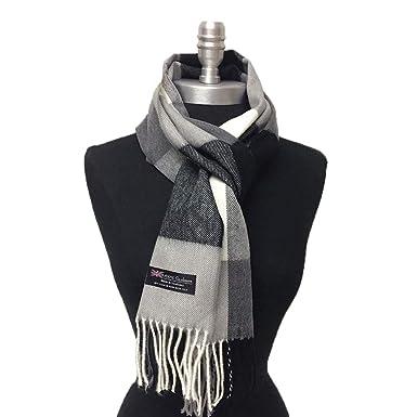 Ladies Black /& White Check Scarf Large Warm Winter Scarf Shawl Wrap