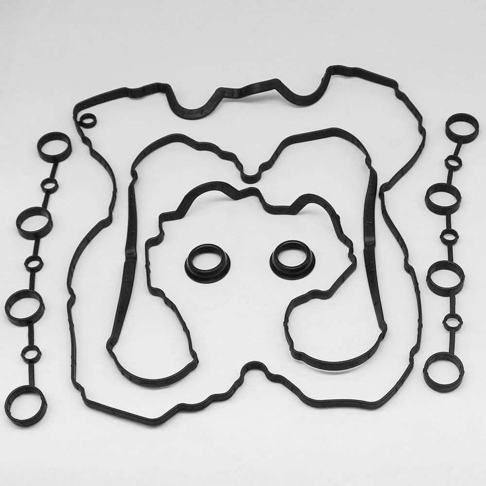 KIPA Left /& Right Valve Cover Gasket Set For Porsche Cayenne 955 Durable superior reliability Part # 94810593205 94810593103