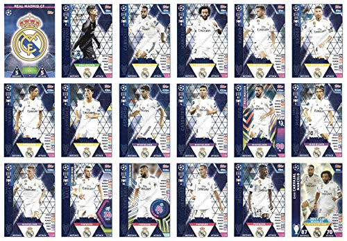 Champions Football Card - Match ATTAX Champions League 2018/19 Real Madrid Full 18 Card Team Set