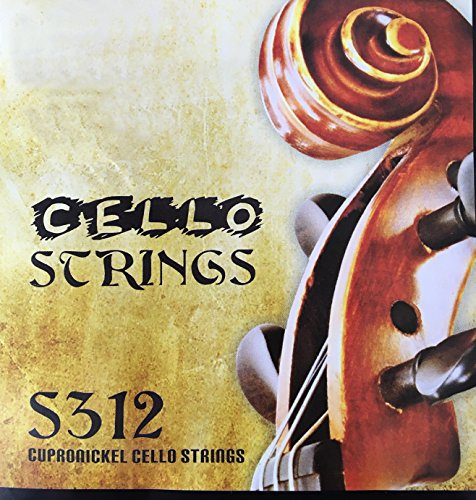 Cello String Set Full Set Cello Strings for 4/4 & 1/2 Size (1-4string)