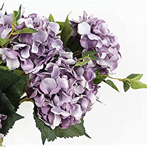 N YONGNUO 5pcs Hydrangea Bouquet Flower Artificial Silk Hydrangea Flowers for Living Room Home Decor/Weding Decor/Flower Carpet/Weding Backdrop 33