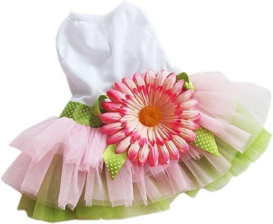 UEETEK Elegante dulce flor de girasol floral vestido de la ...