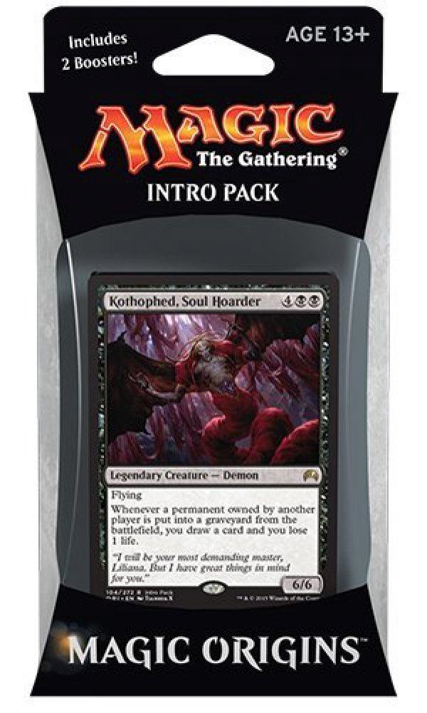 Magic the Gathering: MTG Magic Origins: Intro Pack / Theme Deck: Kothophed, Soul Hoarder (includes 2 Booster Packs & Alternate Art Premium Rare Promo) Black