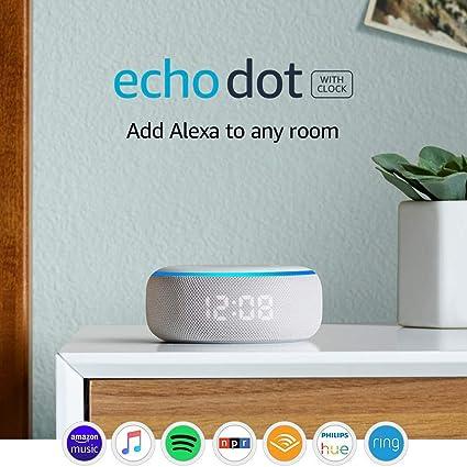 Amazon Com Certified Refurbished Echo Dot 3rd Gen Smart Speaker With Clock And Alexa Sandstone Amazon Devices