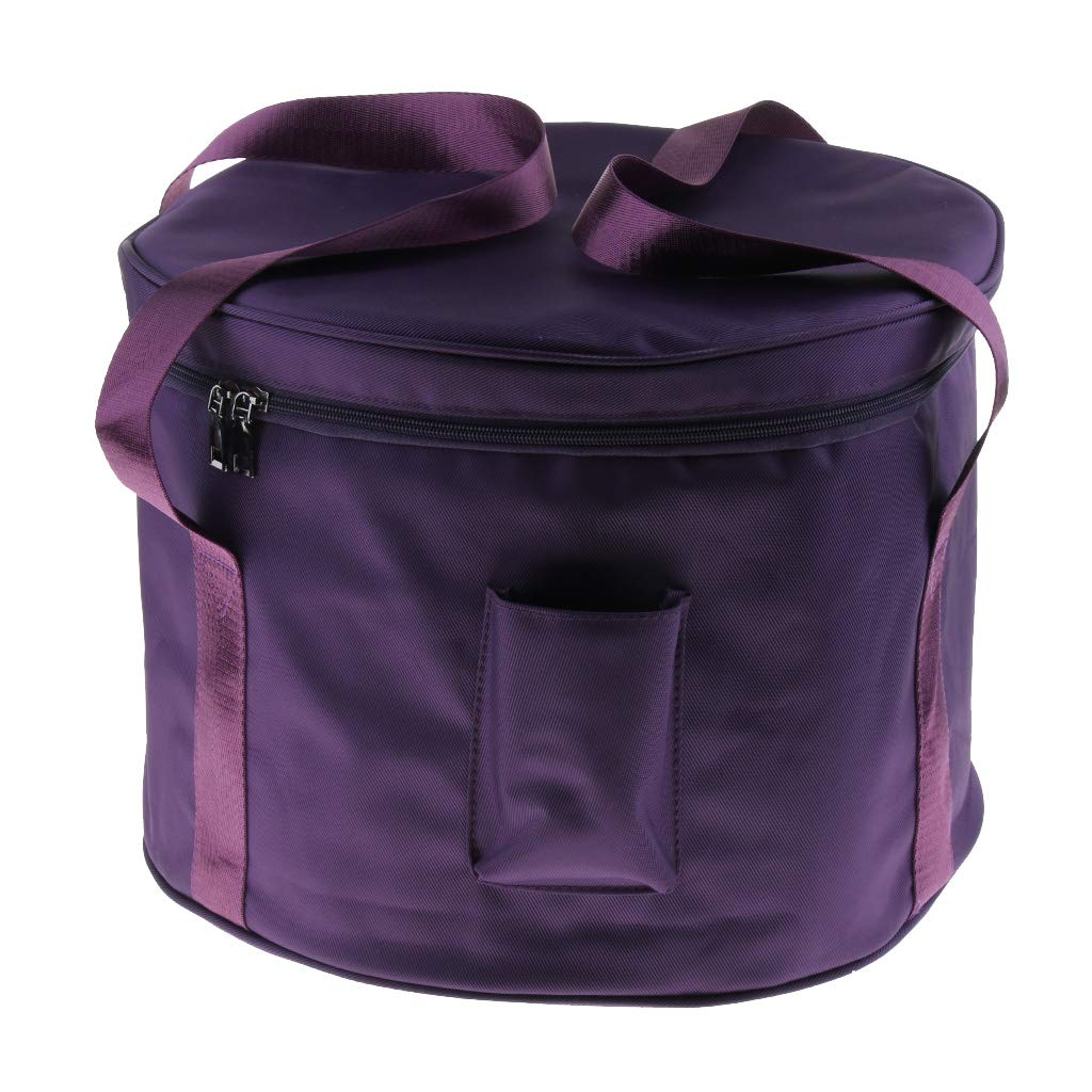 B Blesiya Portable Cotton Storage Carry Case Bag for 6-14inch Singing Bowl Parts - Purple, 14inch