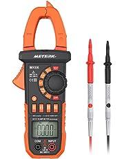 Pinza Digital Multímetro ,Meterk medida amperímetro ohmímetro con corriente y voltaje CA/CC,NCV, 4000 cuentas, ciclo de trabajo, prueba de diodo, auto o manual alcance