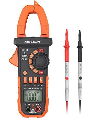 Pinza Digital Multímetro ,Meterk medida amperímetro ohmímetro con corriente y voltaje CA/CC,