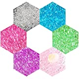 Fishbowl Beads Clear Vase Filler Beads for Crunchy Slime Kids Crafts Homemade Slime Decorations (6 colors) (A)