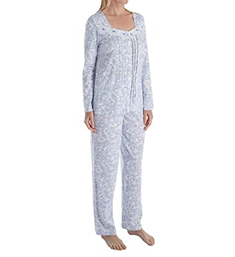 Carole Hochman Women s Floral Long Pajama Set-Plus Size at Amazon Women s  Clothing store  b4476130f