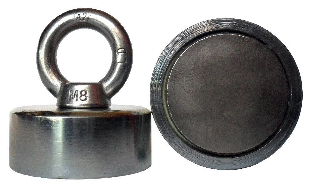 50/mm magnepol soporte magn/ético con im/án de neodimio de redondo y c/áncamo N42/  265lbs di/ámetro 1.97/ 120kg fuerza