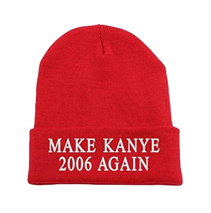 Amazon.com  Parazon Make Kanye 2006 Again Beanie Cuff Winter Hat Ski  Toboggan Knit Cuffed Beanies (Red)  Sports   Outdoors ab6ef8f12acd