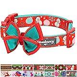Blueberry Pet 14 Patterns Moments of Excitement Snowman Making Christmas Designer Dog Collar, Medium, Neck 14.5