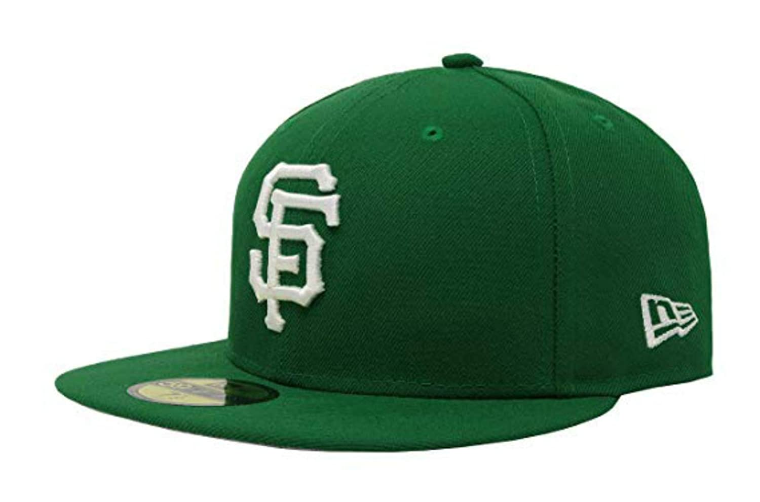 aa320a91df1b0 Amazon.com   San Francisco Giants Fitted Size 7 Hat Cap - Green   Sports    Outdoors