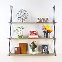 onEveryBaby Rustic Floating Wood Shelves 3-Tier Wall Mount