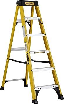 Stanley SXL3110-06E escalera plegable gris 6 peldaños de fibra de vidrio: Amazon.es: Bricolaje y herramientas
