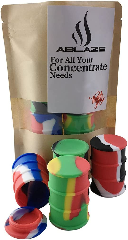 ABLAZE 4 Large Non Stick Silicone Oil Drum Barrel Containers Jar