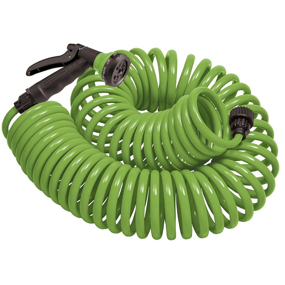 Orbit 27389 Coil Garden Hose, 50 ft, Green