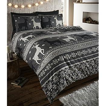 Amazon.com: Nordic Fair Isle 100% Brushed Cotton Flannelette ...