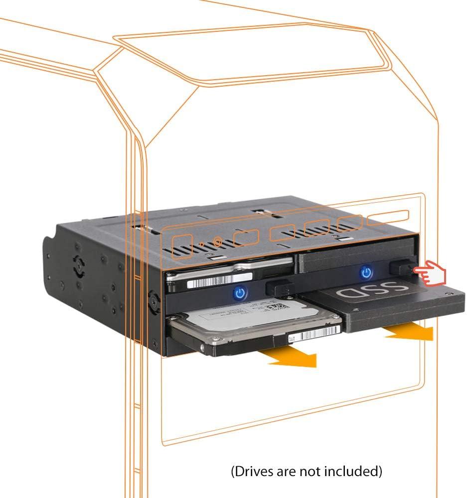 Cuatro Bahias 2.5 SATA/SAS SSD/HDD Trayless Hot-swap