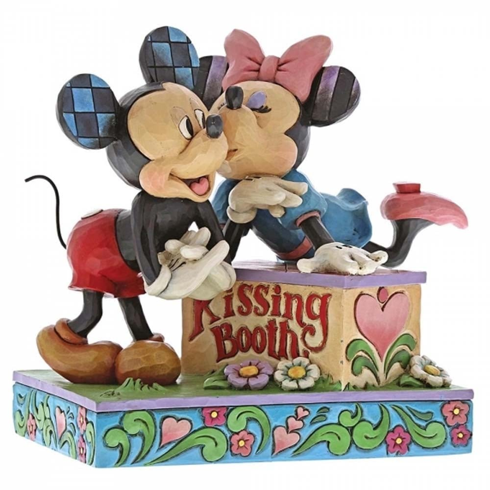 Disney Traditions by Jim Shore Mickey & Minnie Kissing Booth Figurine