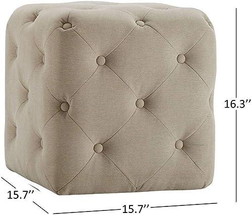 eLuxurySupply Modern Square Ottoman Footrest Stool