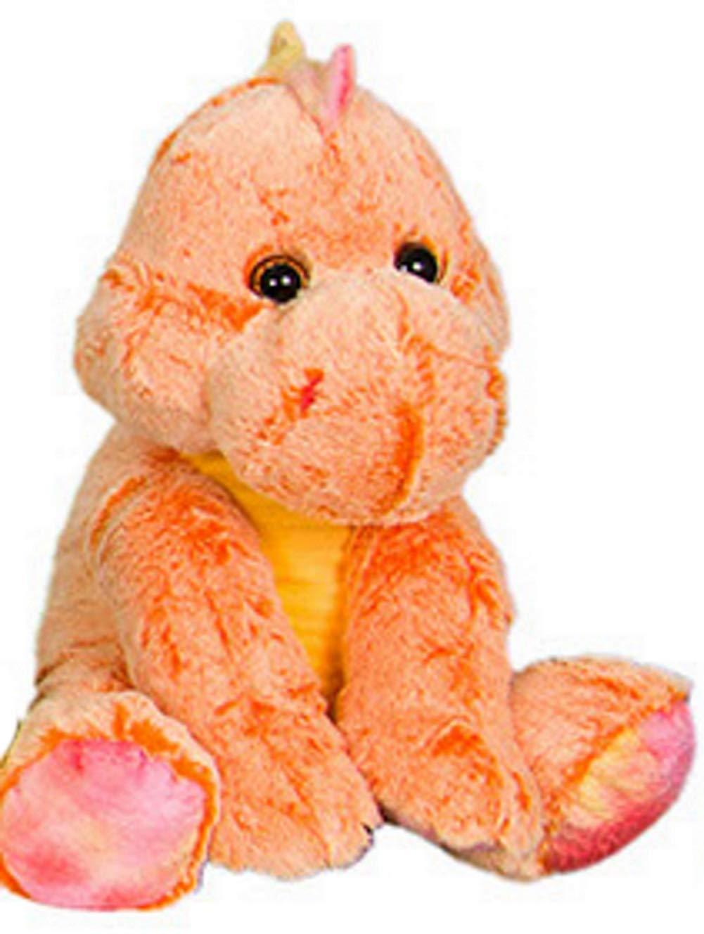 15 inches Kelly Toy Plush Orange Two-Toned Dinosaur