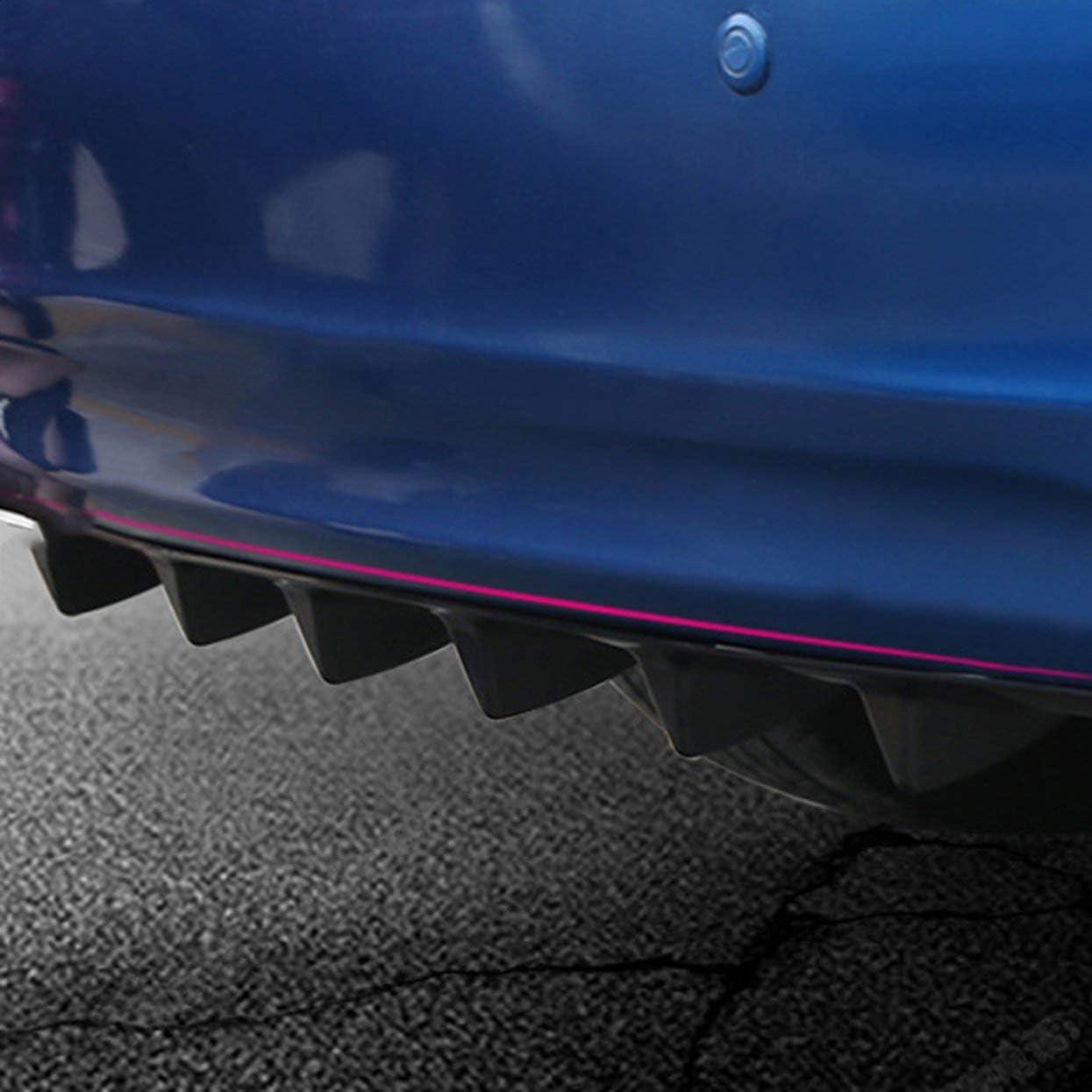 LoveOlvidoF Diffuseur de l/èvre de Pare-Chocs arri/ère de Voiture Universelle 7 Aileron de Requin Style daile de Voiture Bumper Spoiler Lip Splitter Car-Styling ABS