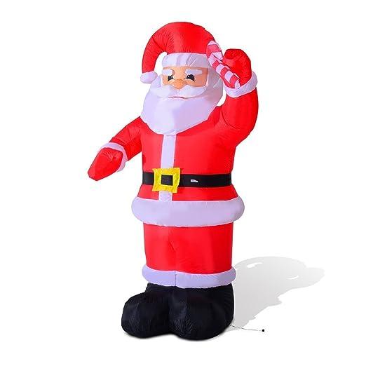HomCom - Papá Noel hinchable con LED para interiores y exteriores ...