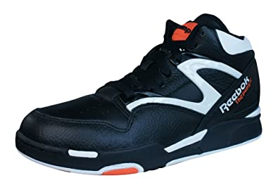 9ee2ce8ee93de5 Reebok Pump Omni Lite Mens Leather Hi Top Sneakers-Black-8