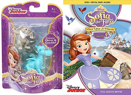 Sofia the First: Once Upon a Princess movie DVD & Disney Sofia the First Animal Friends (2-Pack) Cartoon TV Show Clover & Crackle movie Set (Crackle Studio)