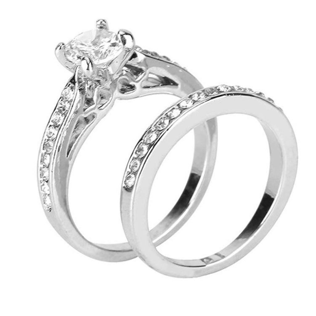 Amazon Wensltd Clearance Anniversary Promise Wedding Band Engagement Ring Bridal Sets Love 7 Silver1 Sports Outdoors: Bridal Wedding Ring Sets Clearance At Websimilar.org