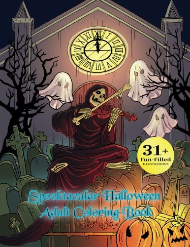 [Spooktacular Halloween Adult Coloring Book: Autumn Halloween Fantasy Art with Witches, Cats, Vampires,  Zombies, Skulls, Shakespeare and] (Sci Fi Halloween)